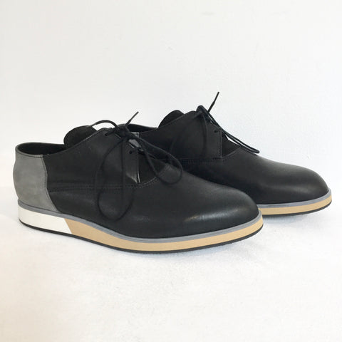 Black-Concrete Leather Vintage Sneakers  Size 43
