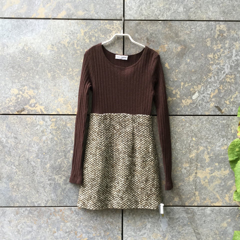 Beige-Brown Wool Dolce & Gabbana Dress  Size XS/S
