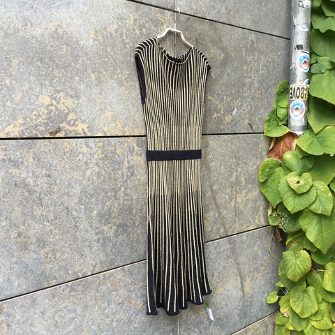Gold-Black Wool Mix Marc By Marc Jacobs Cocktail Dress  Size XS/S