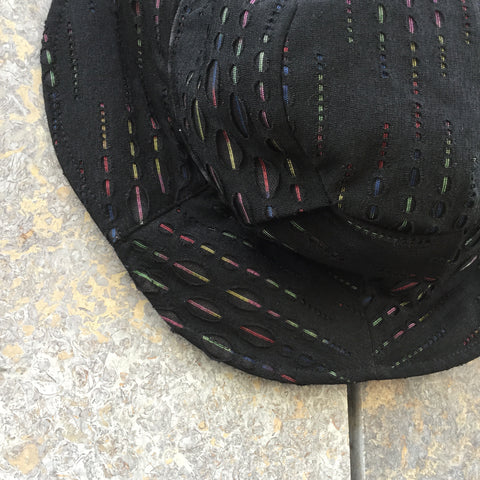 Dark Color Mix Polyester / Rayon Contemporary Bucket Hat Cut Up Size Os