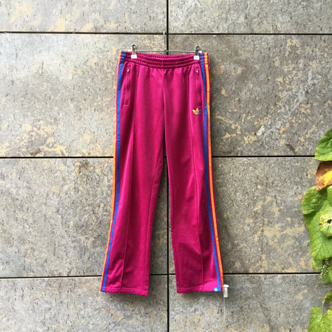 Wine-Colorful Polyester Modern Adidas Jogging Pants  Size 26/27