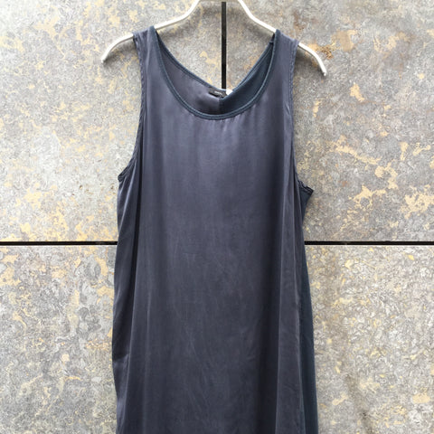 Dark Grey-Black Cotton / Silk Mix Joseph Tank Dress  Size M/L