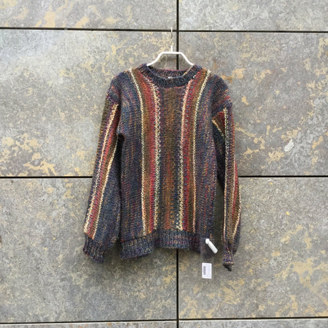 Colorful Wool Mix Contemporary Main Sweater  Size S/M