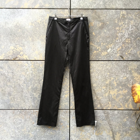 Black Cotton / Poly Mix Stefanel Trousers  Size 30/31