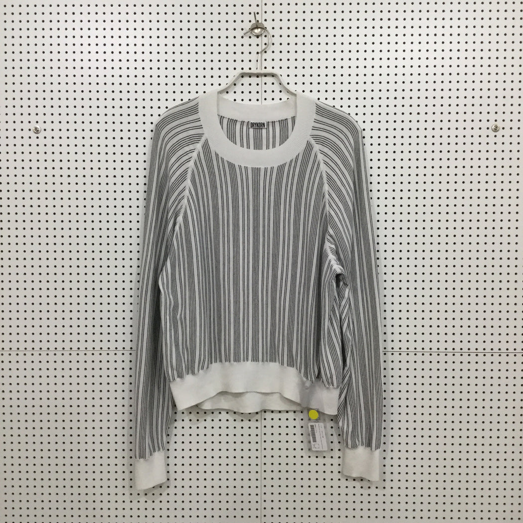 White-Black Silk / Cotton Drykorn Top long sleeve Loose-fit Size S/M