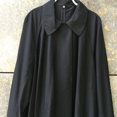 Black Silk Mix Joseph Cape Sleeve Detail Size M/L