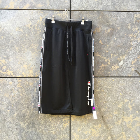 Black Polyester Modern Champion Midi Skirt Slit Panel Size 26/27