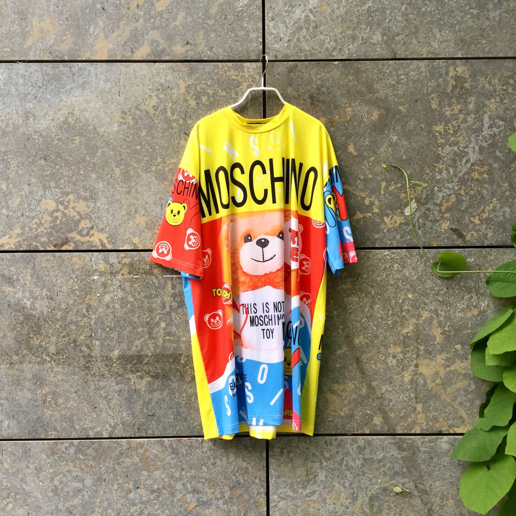 Colorful Cotton Love Moschino T-shirt Oversized Size Os