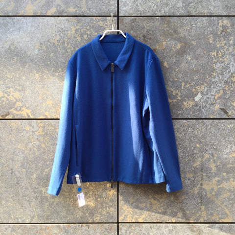 Royal Blue Felt COS Zip Jacket Collar Detail Boxy Size M/L