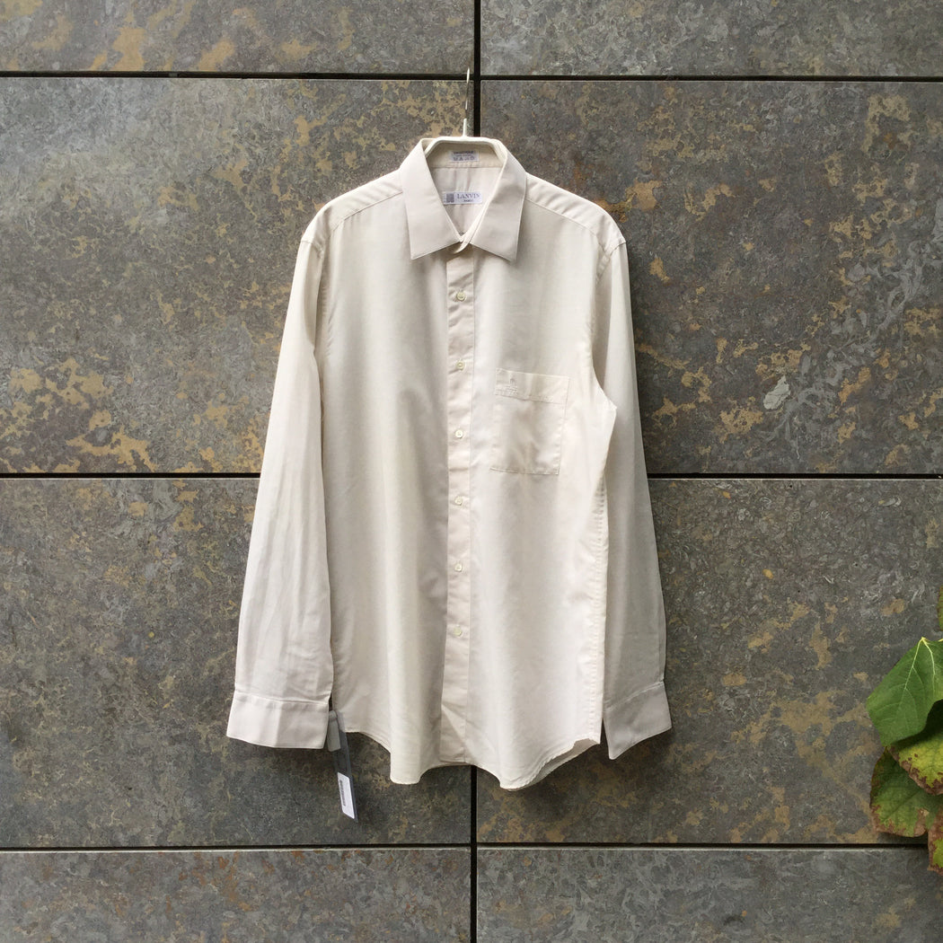 Antique White Cotton Lanvin Shirt  Size M