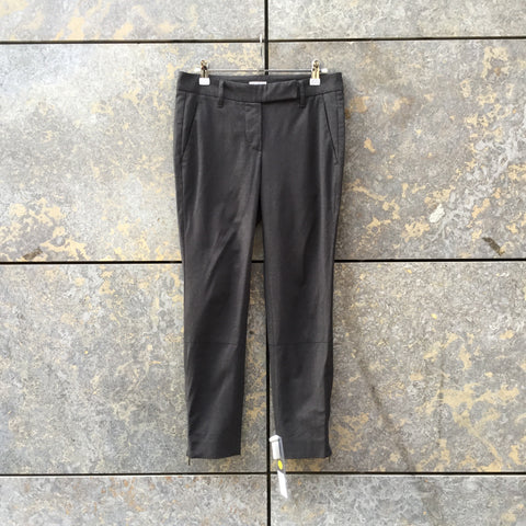 Slate Wool / Polyester Mix Contemporary Main Trousers Zippered Size 26/27