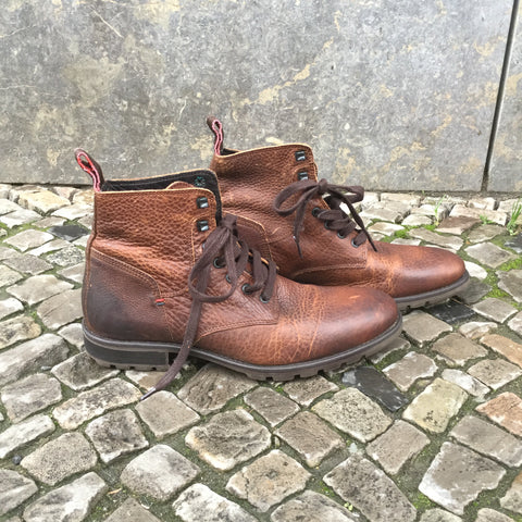 Dark Leather Brown Leather Tommy Hilfiger Boots  Size 8