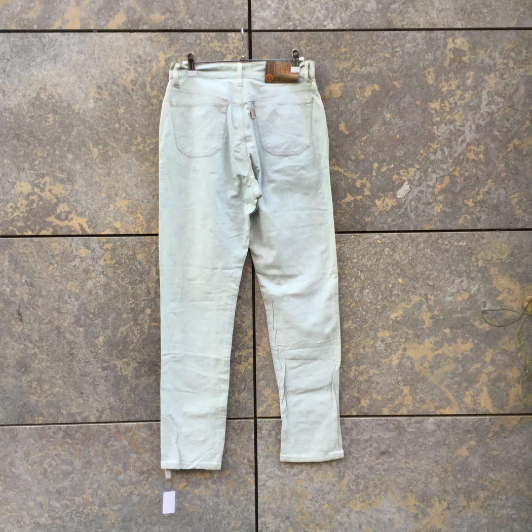 Light Blue Faux Nappa Contemporary Jeans  Size 30/31