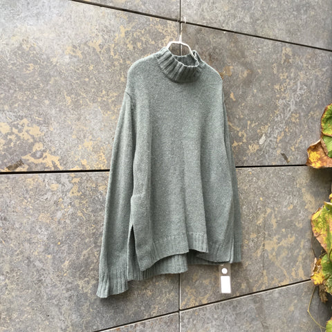 Pastel Green Wool Mix Hope Sweater  Size M/L