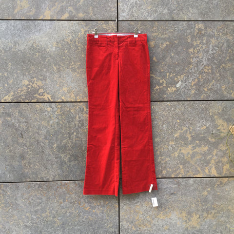 Red Corduroy Tommy Hilfiger Trousers  Size 25/26