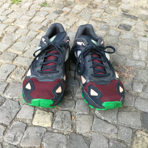 Colorful Synthetic Raf Simons Sneakers Conceptual Detail Size 8.5
