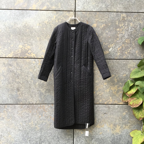 Black Cotton Independent Light Coat Extended Size S/M