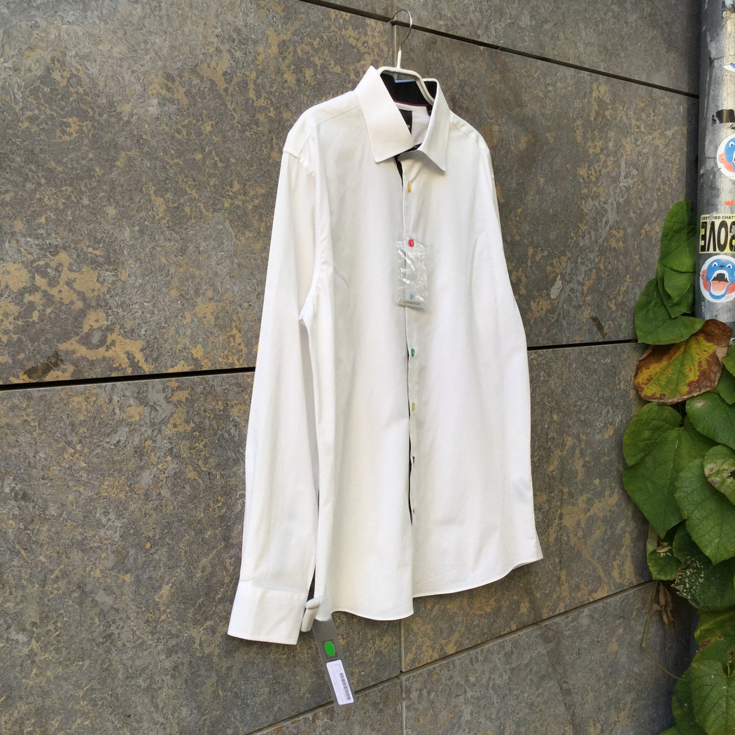 White Cotton Mix Contemporary Main Shirt Special Button Size XS/S