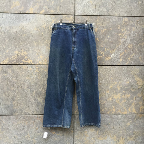 Denim Blue Denim Vintage Jeans Wide Leg Size 34