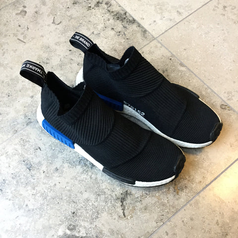 Black-Blue Synthetic Adidas NMD Sneakers  Size 43