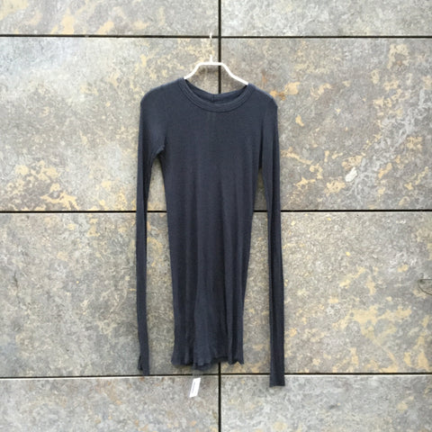 Dark Grey Cotton Mix Rick Owens Top LS Extended Size M