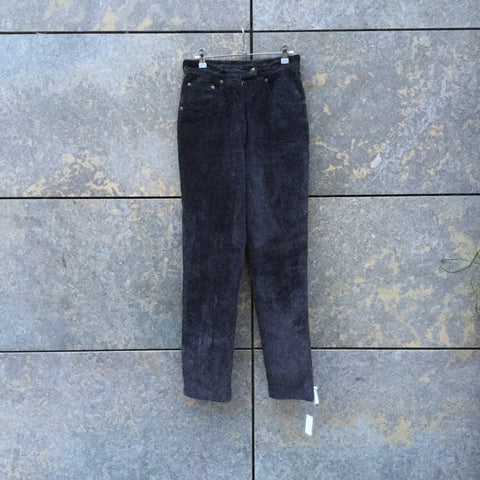 Navy Suede Vintage Trousers  Size 28/29