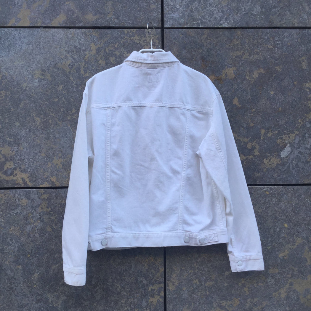 White Denim Wrangler Jeans Jacket  Size M