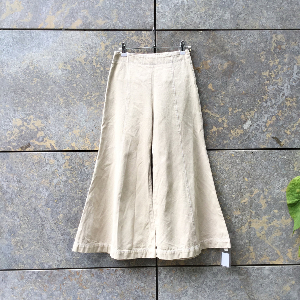 Beige Denim Acne Studios ( Womens ) Flare Pants  Size 25/26