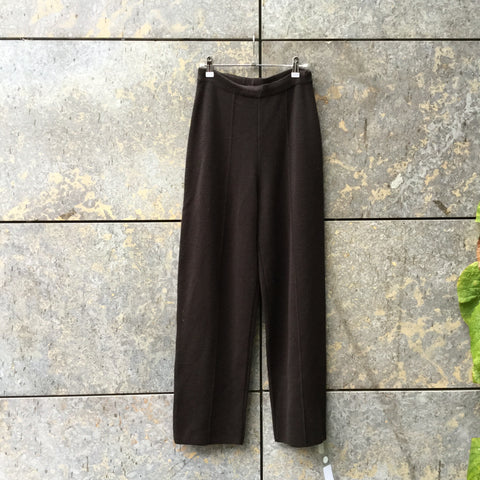 Brown Wool / Acrylic Mix Karl Lagerfeld Straight Fit Pants Wide Leg Size 26/27
