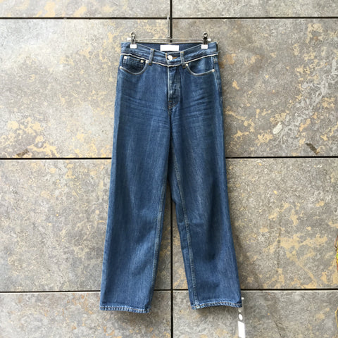 Dark Blue Denim Samsoe And Samsoe Jeans Wide Leg Size 25/26