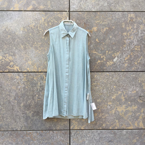Pale Denim Blue Rayon Acne Studios ( womens ) Tank Dress  Size Xs/S