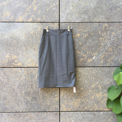 Charcoal Wool Mix Banana Republic Midi Skirt High Waist Size 26/27