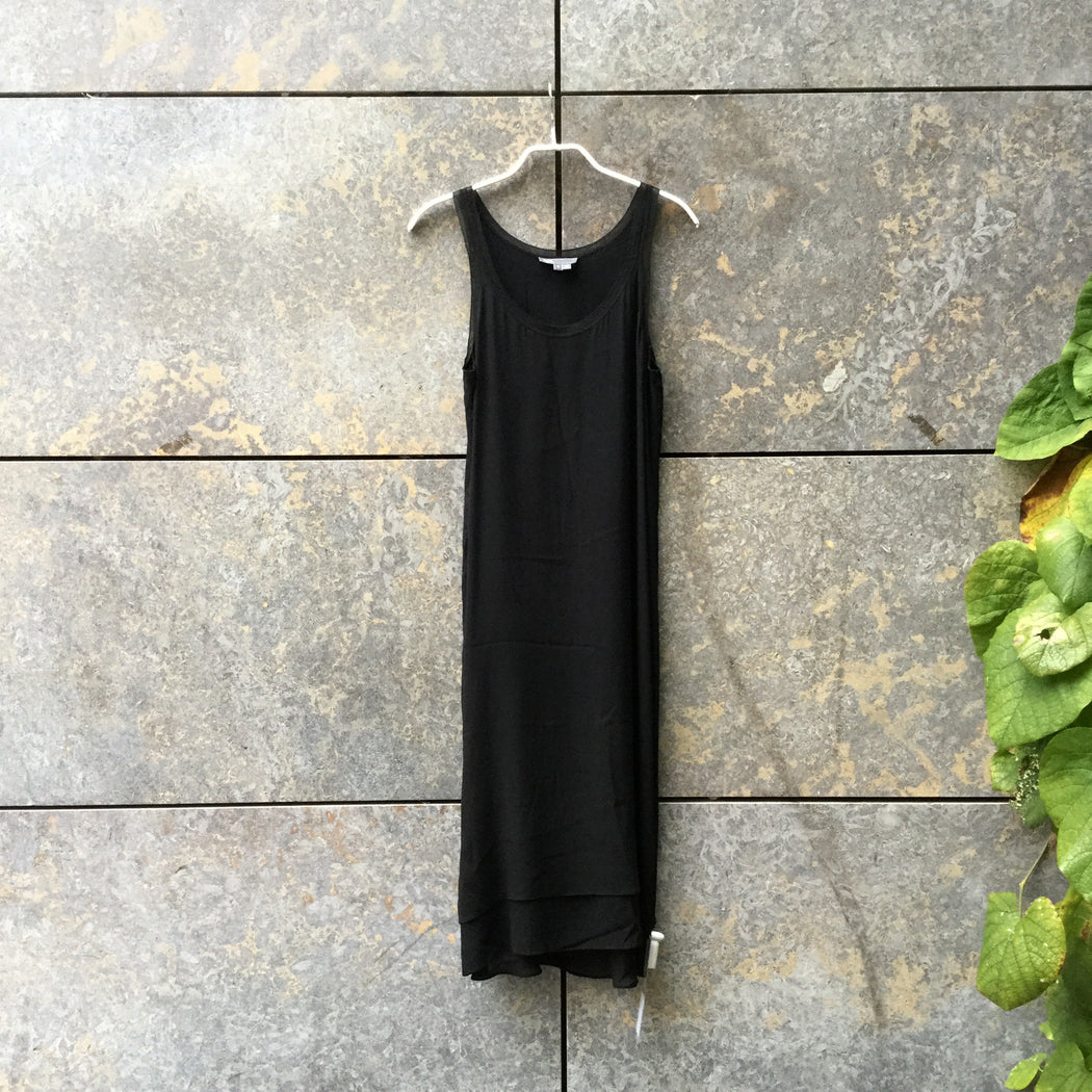 Black Silk Mix Vince Tank Dress  Size S/M