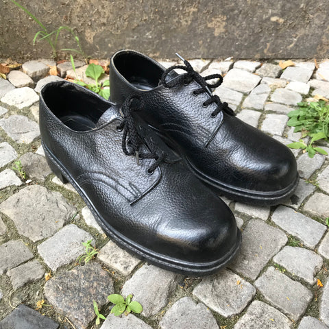 Black Leather Contemporary Main Shoes  Size 44
