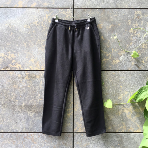 Black Cotton / Poly Mix Fred Perry Jogging Pants Draw String Size 26/27