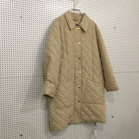 Straw Polyamide Burberry Coat Special Button Size M/L