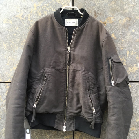 Chocolate-Black Cotton / Poly Mix Our Legacy Heavy Bomber  Size M/L