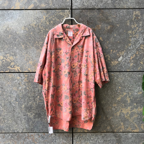 Light Red Berry-Colorful Cotton Stefanel Hawaii Shirt  Size L/XL