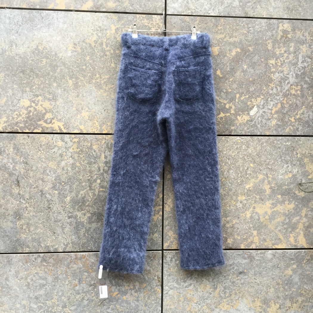 Periwinkle Mohair Mix Designer Trousers  Size 26/27