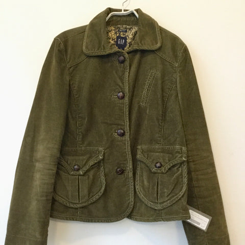Army Corduroy Gap Jacket Big Button Size M/L