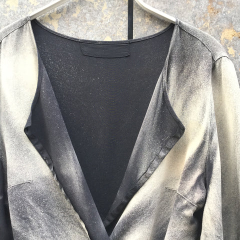 Black-Grey Rayon Independent Shawl Conceptual Detail Size L/Xl