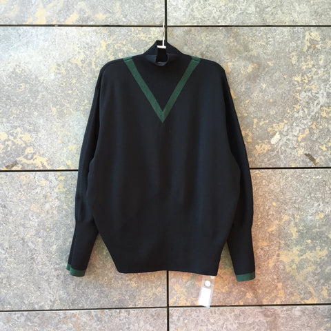 Midnight Blue-Dark Green Cotton Mix Other Stories Sweater Turtle Neck Oversized Size M/L