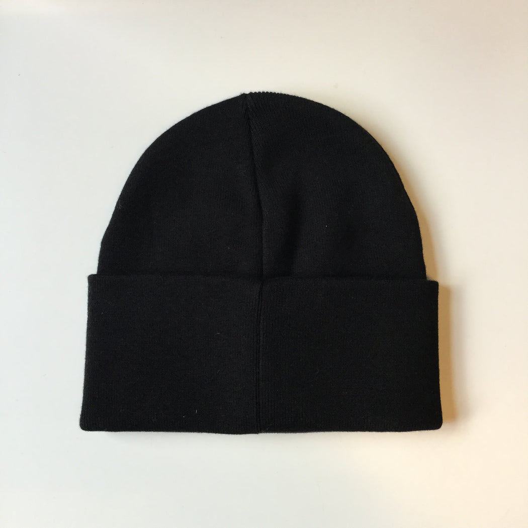 Black-White Cotton Calvin Klein Beanie Hat  Size Os