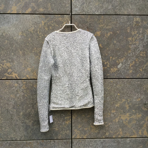 Silver Nylon Independent Top LS Shiny Size S/M