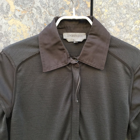 Brown Wool / Polyester Mix Sport Max Shirt Dress  Size Xs/S