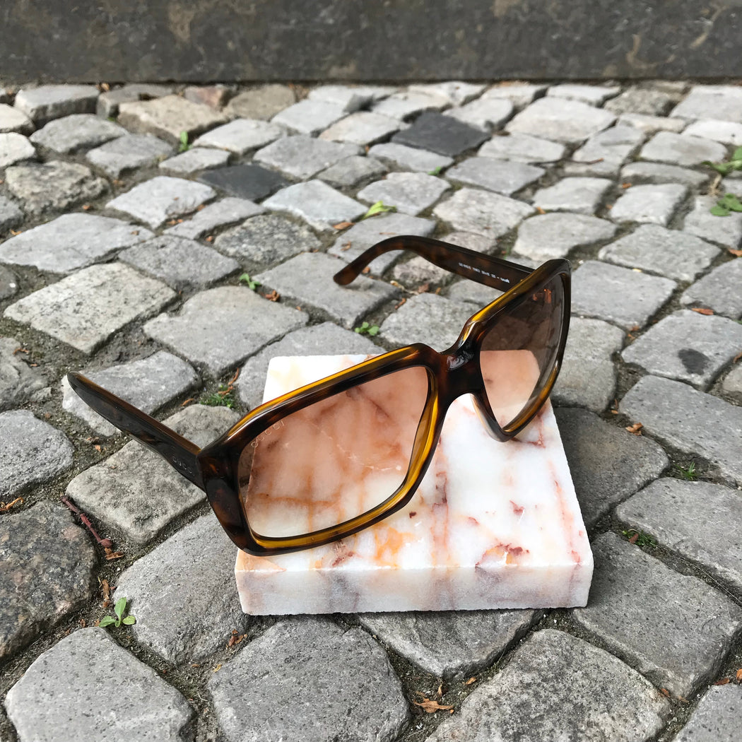 Tan-Brown Synthetic Gucci Sunglasses