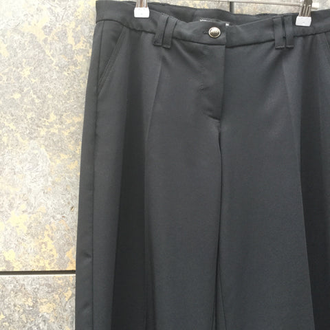 Black Polyester Mix Versace Jeans Couture Trousers Bell Bottom Size 30/31
