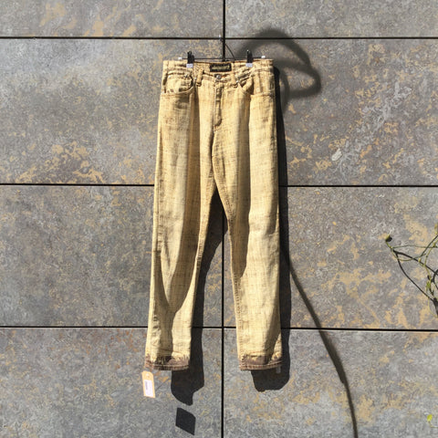 Yellow Lentils-Brown Cotton Roberto Cavalli Jeans  Size 30