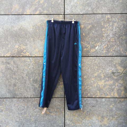 Blue Tone Mix Polyester Modern Contemporary Main Jogging Pants Stretch Waist Size 32
