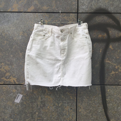 Straw Cotton Contemporary Main Jeans Skirt  Size 30/31